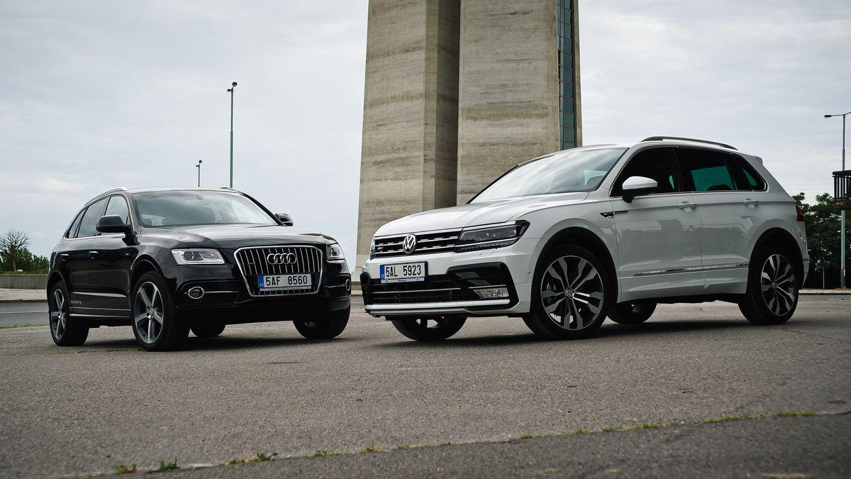 Volkswagen Tiguan 2.0 TDI vs. Audi Q5 2.0 TDI - Garáž.cz